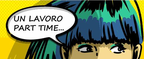 """fumetto con ragazza che pensa: """"lavoro part time..."""""""